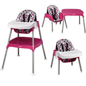 Convertible high chair pink for Sale in Tampa, FL