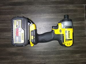 DeWalt quarter inch impact drill with a 6-hour battery on it for Sale in Prattville, AL