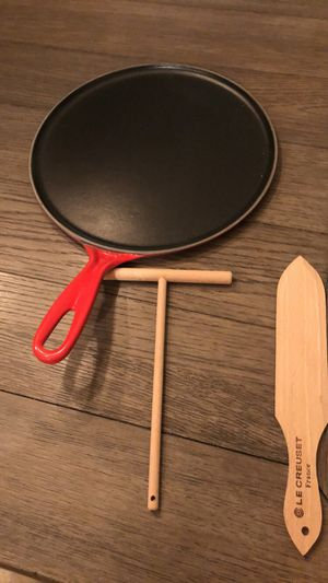 Le Creuset cast iron crepe pan for Sale in Hagerstown, MD