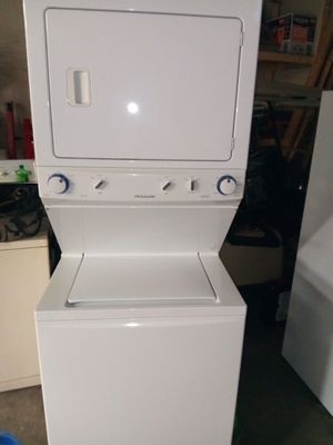 1 years old Frigidaire stackable gas dryer electric washer they both work great for Sale in Taylor, MI