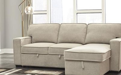 Darton Cream Sleeper Sectional with Storage by Ashley🗨️♨️💐 for Sale in Lanham,  MD