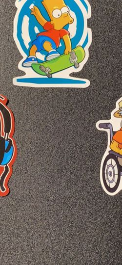 Simpsons Stickers Lot Of 3 for Sale in Lincoln,  MA