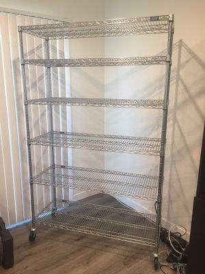 Utility/Kitchen Rack - 6.5' tall 4' wide 1.5' deep for Sale in Long Beach, CA