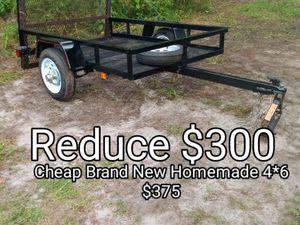Nice 4 x 6 homemade tilt utility trailer for Sale in Winter Park, FL