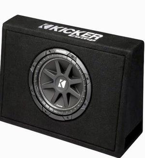 KICKER 40tcws 10 inch600 Watts car/truck Subwoofer + Box + 1000 Watts Amplifier + Amp kit for Sale in Glendale, AZ