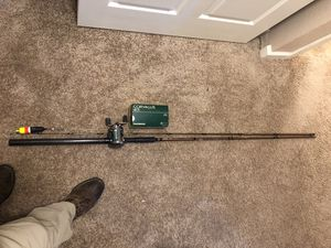 Brand new SST Okuma salmon herring rod with a corvalus reel. 2nd rod X-11 lamiglass float spin rod. for Sale in Portland, OR