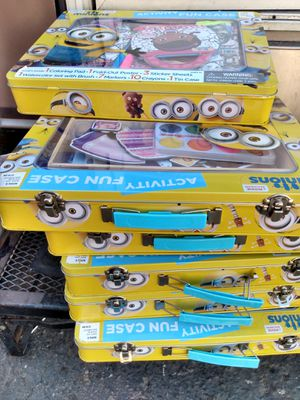 Aluminum cases with girls activity books and crayons and stickers for Sale in Gardena, CA