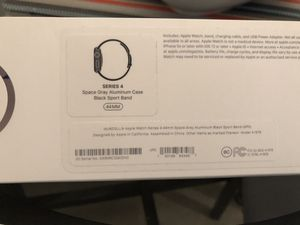 Apple Watch 4 44 MM Aluminum Space Gray. Excellent + Fitbit watch condition for Sale in Auburn, WA