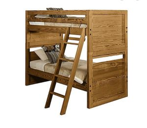 This End Up bunk beds_solid wood w mattresses for Sale in Dearborn, MI
