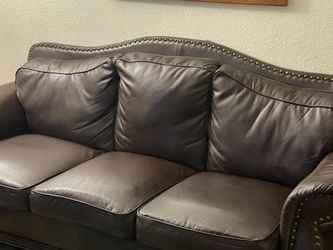 Free Brown Vegan Leather Sofa for Sale in Sacramento,  CA