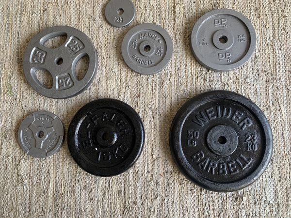 "Various 1"" weight plates"