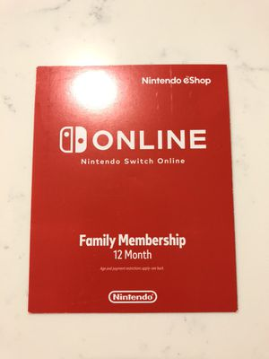 Nintendo Switch Online 12 Month Membership for Sale in Ladera Ranch, CA
