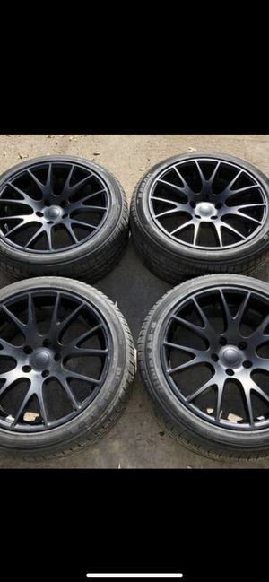 "New 20"" Black Hellcat Rims and New Tires 5x115 Bolt pattern 20 Hell cat Wheels dodge Charger , Challenger , Magnum , Chrysler 300 20s Rines y Llantas for Sale in Dallas, TX"