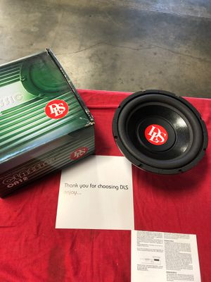 One brand new DLS OA12 12inch 4ohm single voice coil subwoofer for Sale in Riverside, CA