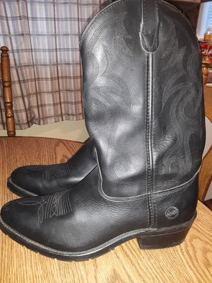 Leather Boots Double H Work Western Size 11 1/2 for Sale in MIDDLEBRG HTS, OH