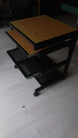 Mobil computer/printer stand with roll out shelves for Sale in Bellevue,  WA