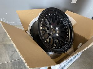 16x8 Flat Black 4x100 +25 Wheels CP21 by Circuit Performance Mesh CCW style for Sale in Stevenson Ranch, CA