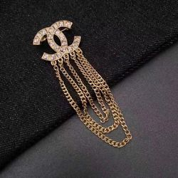 classic CC Gold Chain Brooch for Sale in Newark,  CA