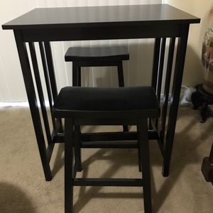 "Available Brand New 3 Pc Wood Bar High Dining Set 36""H 32""L23""W Stools24""H Pick Up Gaithersburg Md20877 for Sale in Gaithersburg, MD"