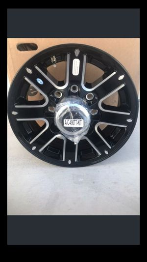 8 lug aluminum trailer wheel #4 fifth wheel gooseneck goose neck hot shot rv camper flat bed car hauler for Sale in Pahrump, NV