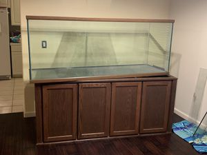 215 gallon aquarium w/stand, canopy and filter (make offer) for Sale in Pittsburg, CA