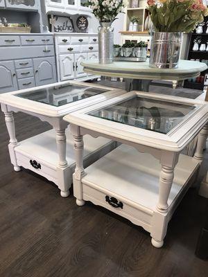 Bassett 2 side tables for Sale in Clovis, CA