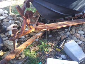 Solid 19ft self unloading ski boat trailer. for Sale in Canyon Lake, TX