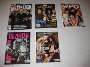 Music Magazines - Metallica, Led Zeppelin, Michael Jackson, Prince, The Who, Beatles, Bob Marley Freak Brothers Alice Cooper for Sale in San Antonio, TX