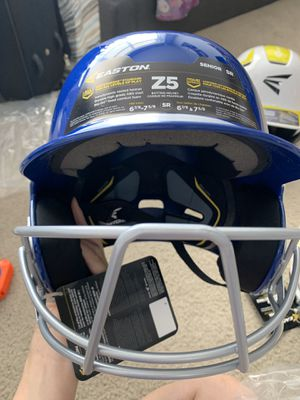 Easton Z5 Two-Tone Batting Helmet with Baseball Facemask for Sale in San Francisco, CA