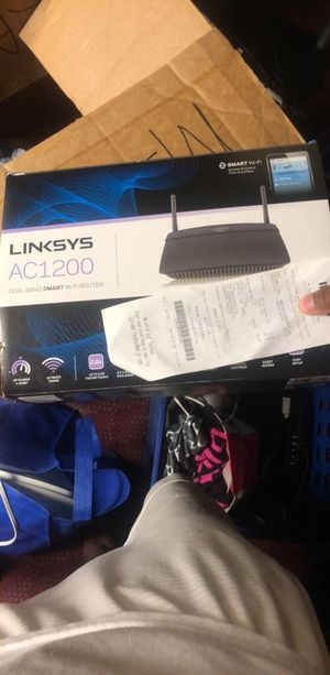 Linksys Router Originally 89.99 selling it for $40 for Sale in Southfield, MI