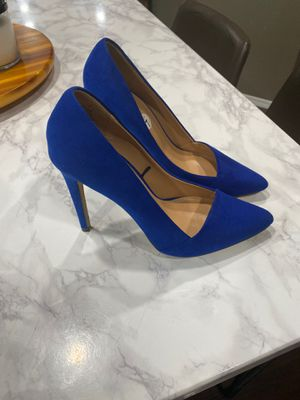 Express size 7 heels blue for Sale in South Hill, WA