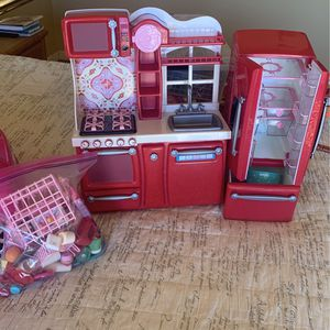 Doll Kitchen and accessories (18 In Doll Size) for Sale in Alpine, CA