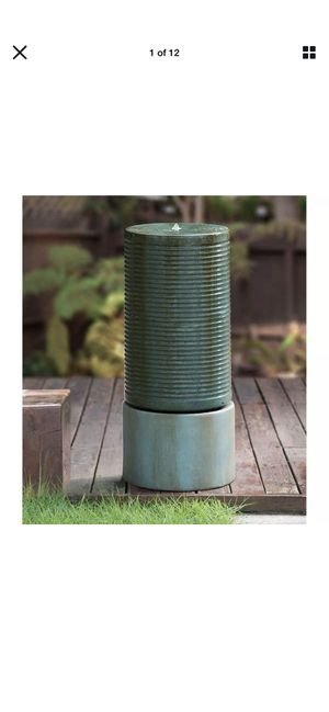 Modern ribbed cascading fountain for Sale in Jacksonville, FL