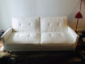 Leather futon couch for Sale in West Palm Beach, FL
