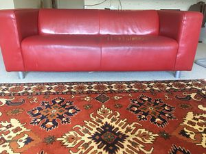 Red couch genuine leather for Sale in Fort Washington, MD