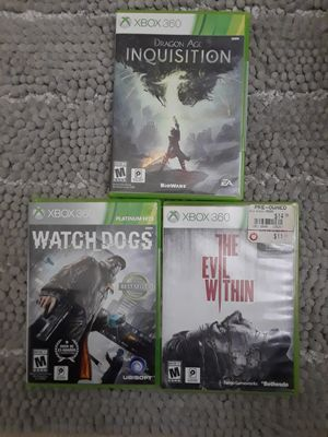 3 XBOX 360 GAMES take all 8 $ for Sale in Riverside, CA