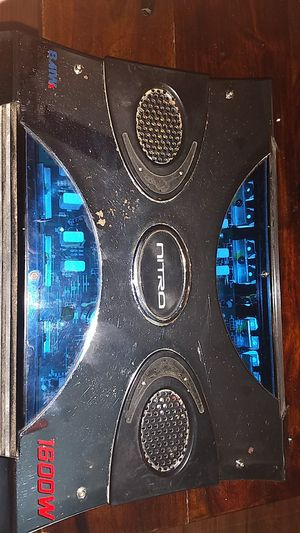1600 Watt Nitro 2 channel bridgeable Amplifier for Sale in Waco, TX