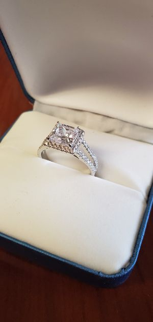 925 Sterling Silver, AAA Cubic Zirconia Stones, Women's Wedding/Engagement Ring Size 5, 6, 8 & 9 for Sale in Portland, OR