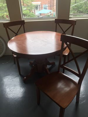 Kitchen table with 4 chairs for Sale in Alexandria, VA