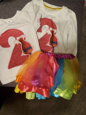 Poppy trolls birthday outfit for Sale in Compton, CA