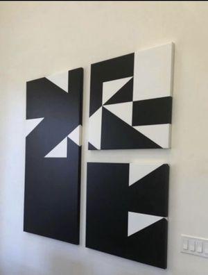 3 PC Modern Canvas wall Art for Sale in Chandler, AZ