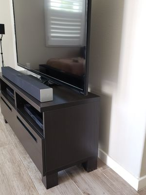 Dark chocolate brown tv stand for Sale in Irvine, CA