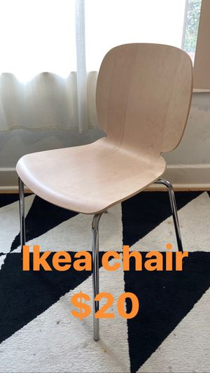 IKEA wooden chair with IKEA white desk or kitchen table for Sale in Los Angeles, CA
