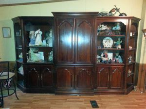 Solid oak entertainment center for Sale in Tallahassee, FL