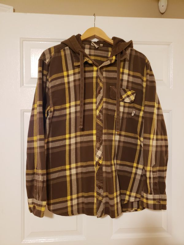 VANS OFF THE WALL Flannel Hoodie Sz XL