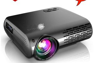 Newest P20 Native 1080P Projector 6800 lumens Video Projector Support 4K Dolby, ±50°Keystone Correction, Zoom Function, Compatible with PC Laptop Chr for Sale in Queens, NY