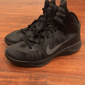 Rare Black nike hyper-enforcer basketball shoes size 10 for Sale in Calabasas, CA