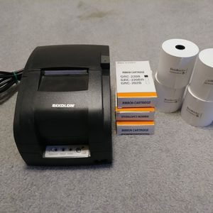 BIXILON Receipt Printer plus Three Ink Cartridge An Four Roll Of Paper for Sale in Canton, OH