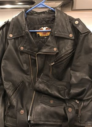 Harley Davidson leather jacket coat genuine for Sale in Raleigh, NC