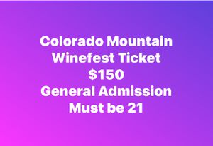 Winefest Tickets for Sale in Grand Junction, CO